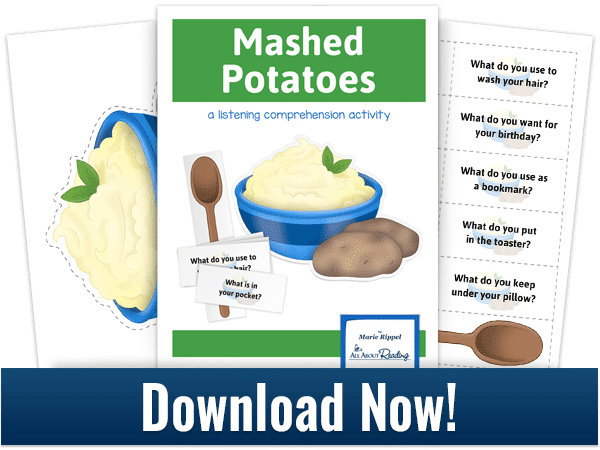 FREE Mashed Potatoes Listening Comprehension Game