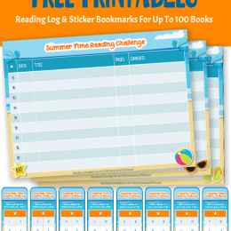 Free Summer Book Challenge Logs & Bookmarks