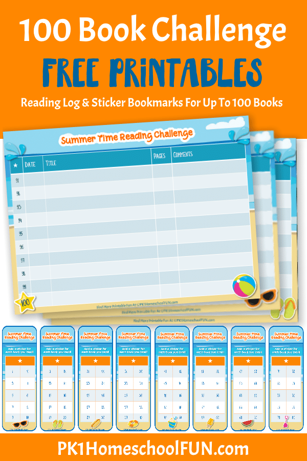 Free Summer Book Challenge Logs & Bookmarks
