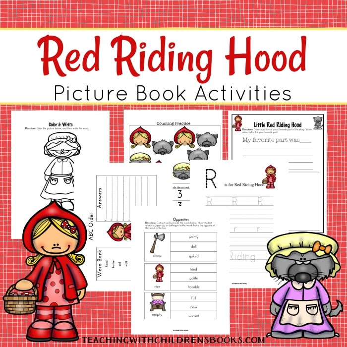 Free Little Red Riding Hood Printables & Unit Study