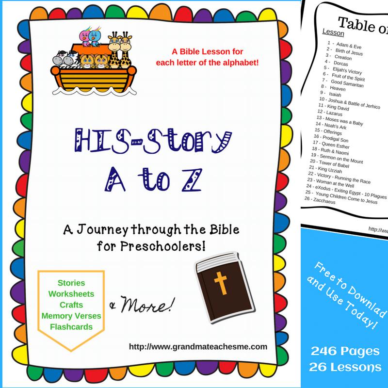 Free Preschool Alphabet Bible Lessons