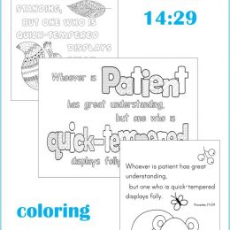 Free Proverbs 14:29 Coloring Pages