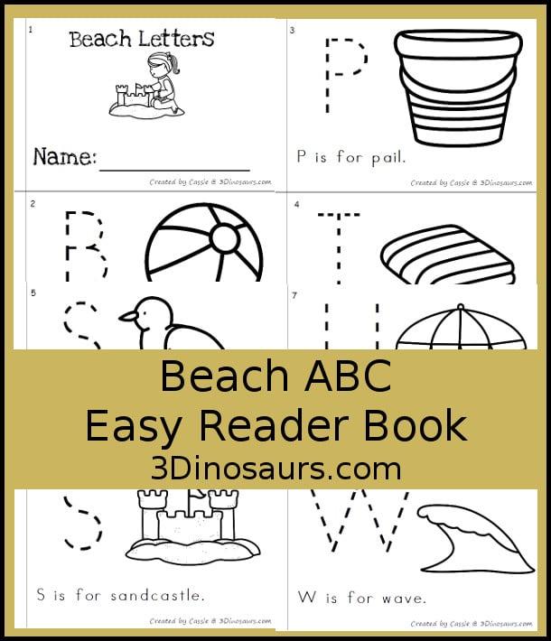 Free Beach ABC Easy Reader Book