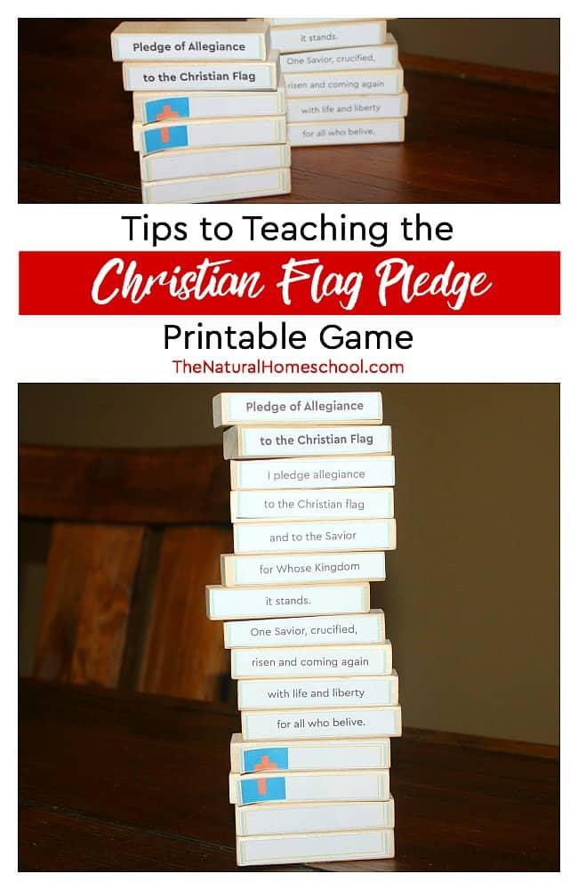 Free Christian Flag Pledge Game