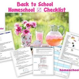 Free Back to Homeschool Planning Pages