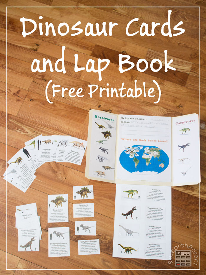 Free Dinosaur Lapbook & Cards