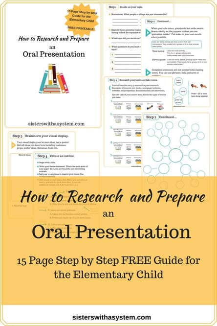 Free Guide to Elementary Oral Presentations