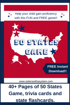 FREE 50 States Flashcards and Game