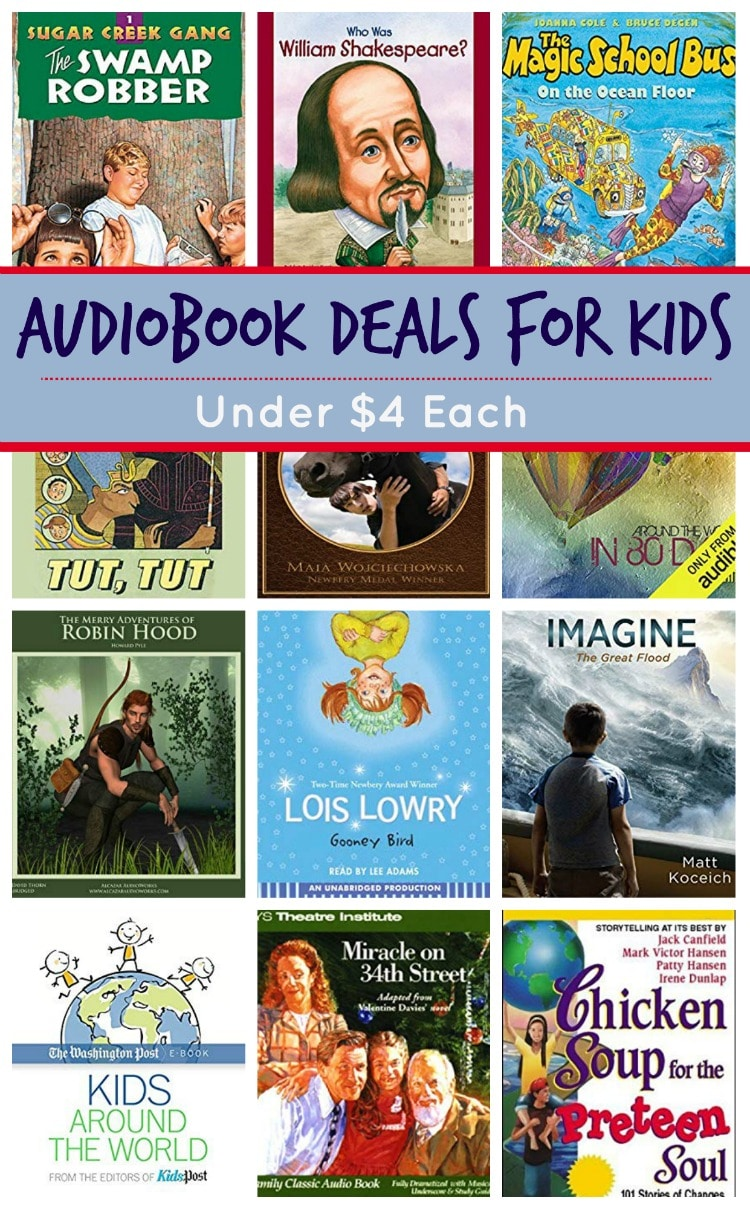20+ Audiobook Deals for Kids: Sugar Creek Gang, Magic School Bus & More!