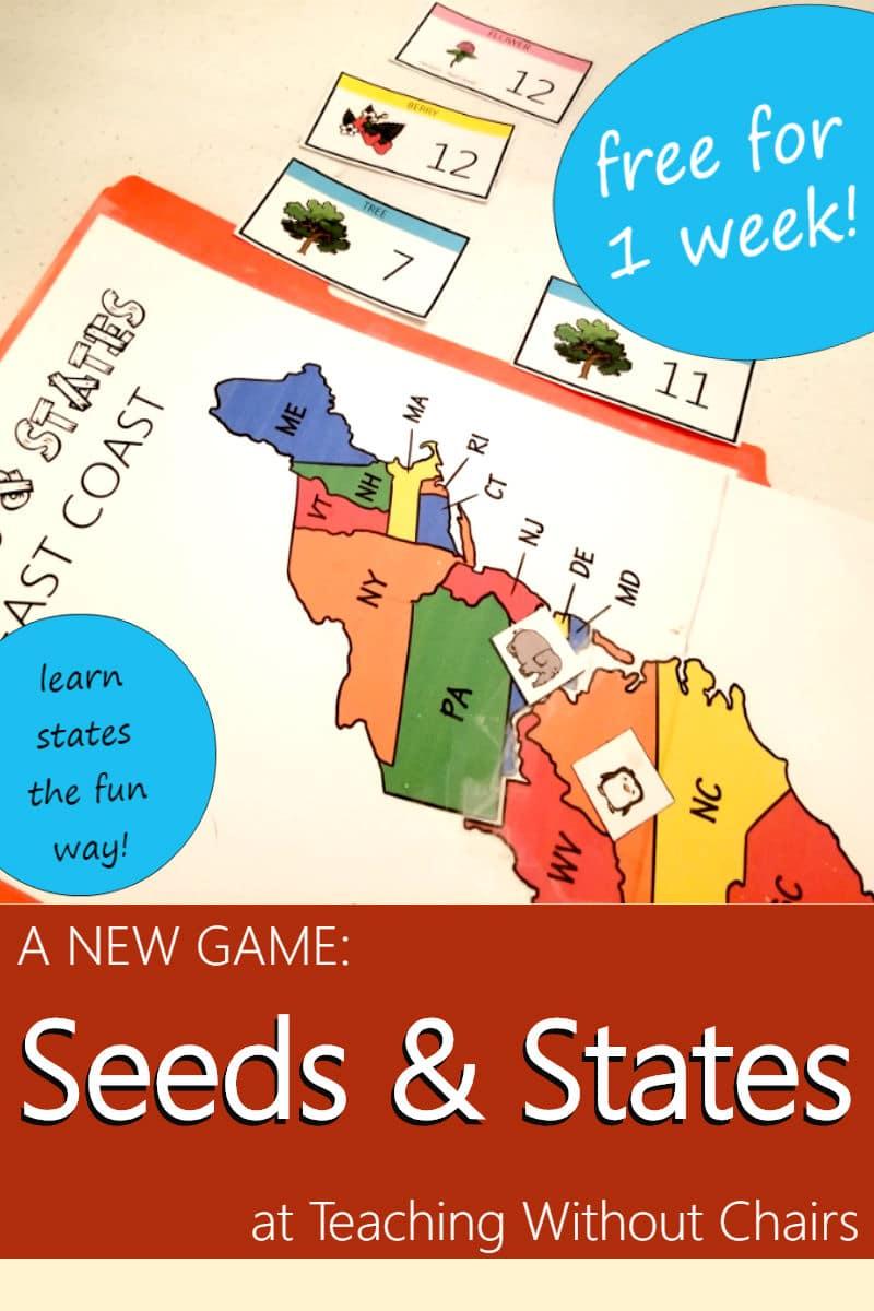Free Seeds & States East Coast Study Printables - Limited Time