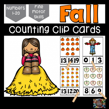 Check out these FREE Fall Count & Clip Cards here! #fhdhomeschoolers #freehomeschooldeals #hsfreebies #fall #homeschoolmoms