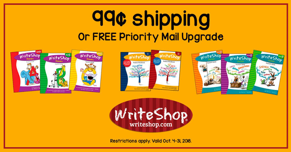WriteShop Deal - Get $0.99 Shipping with $25+ Orders!