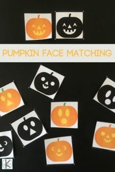 FREE Pumpkin Faces Matching Printable