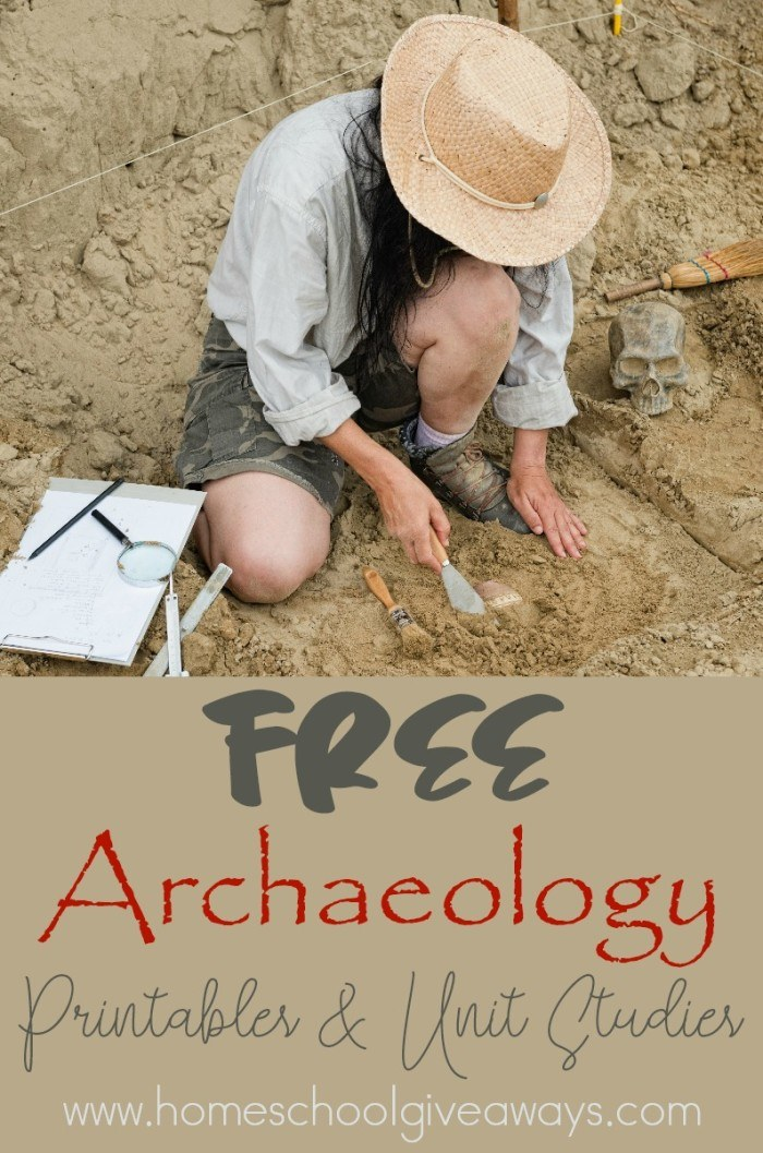 free archaelogy printables and unit studies