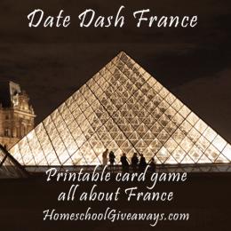 Free Printable France Card Game!