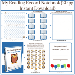 Free 'My Reading Record Notebook'