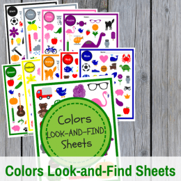 FREE Colors Look-and-Find Sheets!