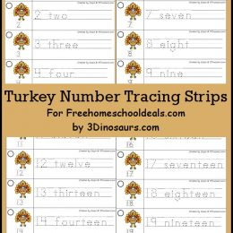 FREE Turkey Tracing Strips Printable (Instant Download)
