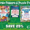 SAVE 25% on Brain Teasers and Puzzle Fun from Dover!