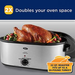 Oster Stainless Steel Roaster Oven with Self-Basting Lid Only $38! (Reg $48!)