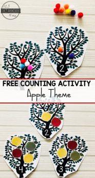 FREE Preschooler Apple Tree Counting Activity