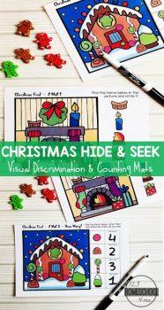 FREE Christmas Hide & Seek Mats