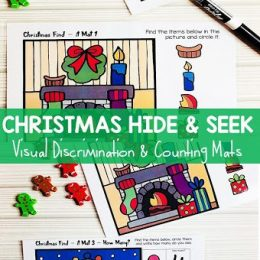 FREE Christmas Hide & Seek Mats