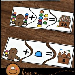 FREE Gingerbread Addition Puzzles