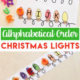 FREE Alphabetical Order Christmas Lights Printable