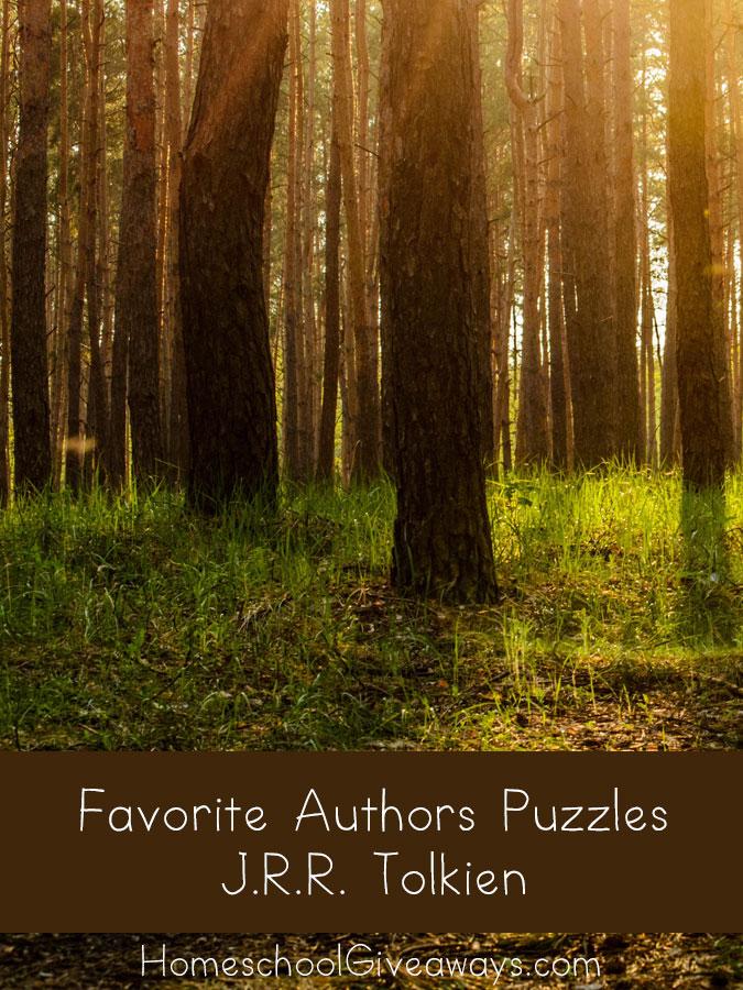 FREE Printable Favorite Authors Puzzles: J.R.R. Tolkien