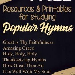 FREE Hymn Study Printables