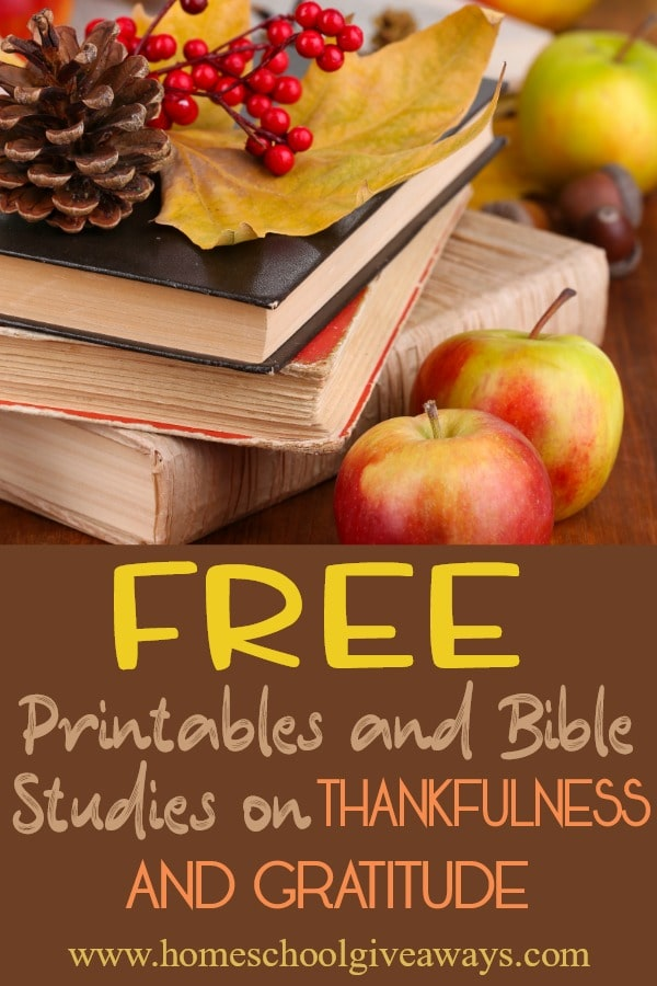 FREE Thankfulness Bible Studies and Printables