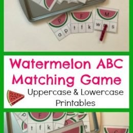 FREE Watermelon Letter Matching Game