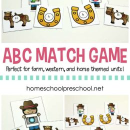 FREE Cowgirl ABC Match Game