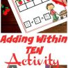 FREE Adding Within 10 Activity Printable