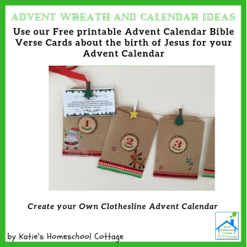 FREE Advent Calendar and Wreath Ideas + Bible Verse Cards!