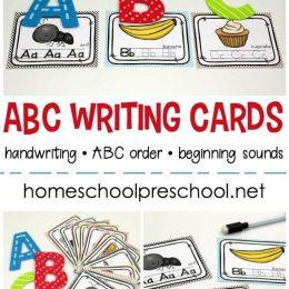 FREE Clip and Go Alphabet Writing Cards