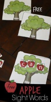 FREE Apple Tree Sight Words Activity