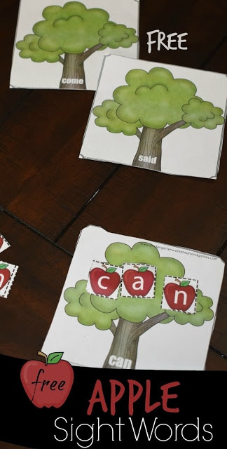 FREE Apple Tree Sight Words Activity Free Homeschool Deals