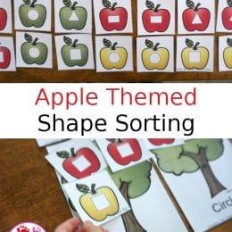 FREE Apple-Themed Shape Sorting Printable