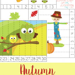 Celebrate Fall with these FREE Autumn Counting Cards & Puzzles! #fhdhomeschoolers #freehomeschooldeals #hslife #fallresources #homeschoolmoms