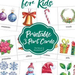 FREE Christmas Word Cards