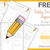 FREE Homeschool Student Daily Agenda