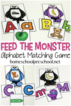FREE Feed the Monster Alphabet Game