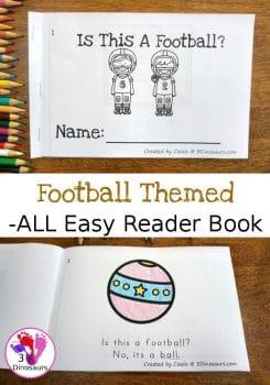 FREE Football -ALL Endings Easy Reader