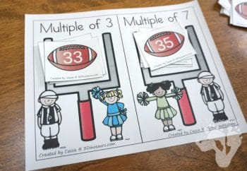 FREE Football Multiples of 3 & 7 Sorting Activity