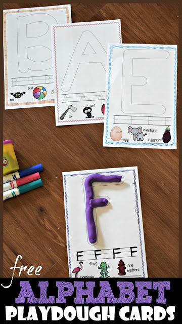 free alphabet playdough cards  free homeschool deals