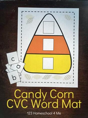 Free Candy Corn Cvc Word Mat Alphabet Tiles Free