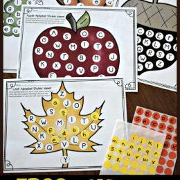 FREE Fall Alphabet Sticker Sheets