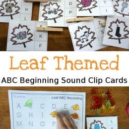 FREE Leaf-Themed Beginning Sounds Clip Cards